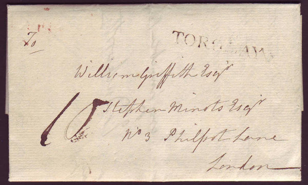 78167 - DEVON. 1809 letter Torbay to London dated Feb 21 w...