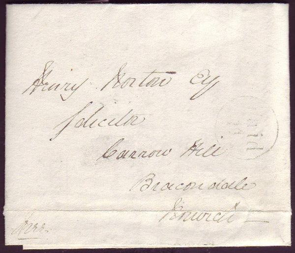 78185 - NORFOLK. 1841 letter Attleburgh to Norwich with fa...