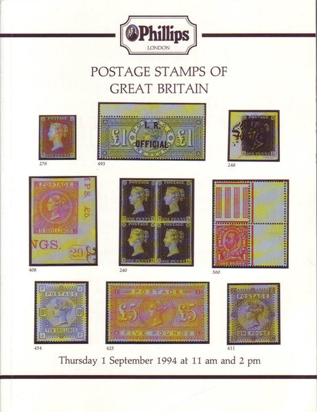 78306 - POSTAGE STAMPS OF GREAT BRITAIN - PHILLIPS AUCTION...