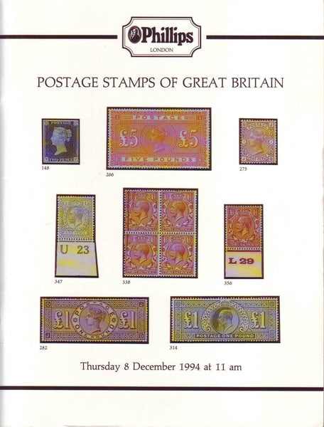78307 - POSTAGE STAMPS OF GREAT BRITAIN - PHILLIPS AUCTION...