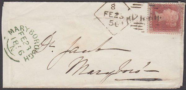 78397 - DUBLIN DIAMOND SPOON NO.8 (RA70). 1856 envelope Du...