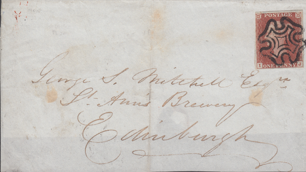 78406 - MONTROSE MALTESE CROSS ON COVER (SPEC.B1tq). 1841 part wrapper