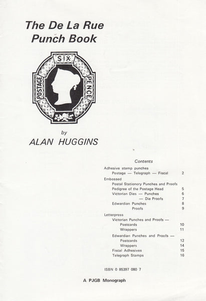 78614 - THE DE LA RUE PUNCH BOOK by Alan Huggins. Pamphlet...