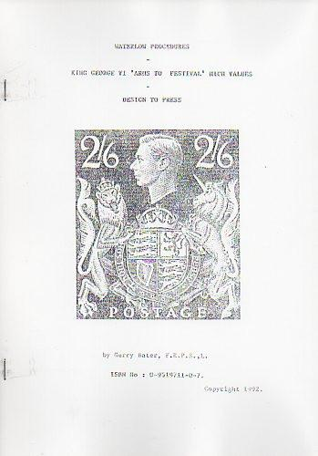 "78711 - WATERLOW PROCEDURES: KING GEORGE VI ""ARMS TO FESTI..."