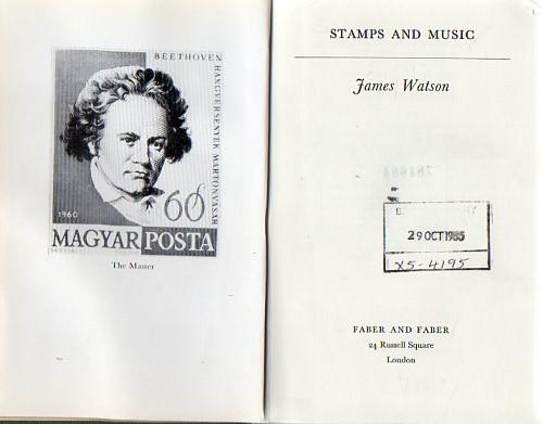 78763 - STAMPS and MUSIC, James Watson, 1962 (ex-public libr...