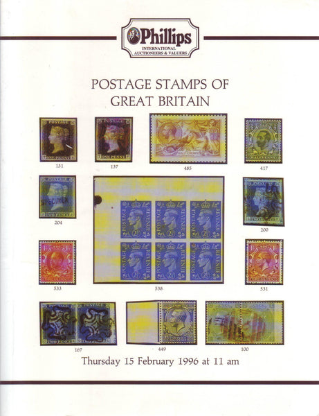 78878 - POSTAGE STAMPS OF GREAT BRITAIN: PHILLIPS AUCTION ...