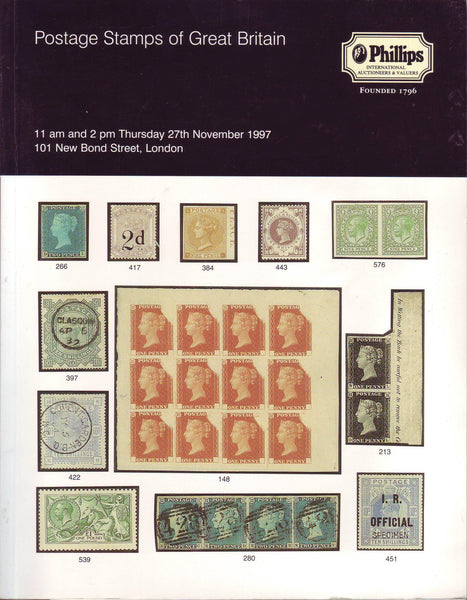 78882 - POSTAGE STAMPS OF GREAT BRITAIN: Phillips Auction ...