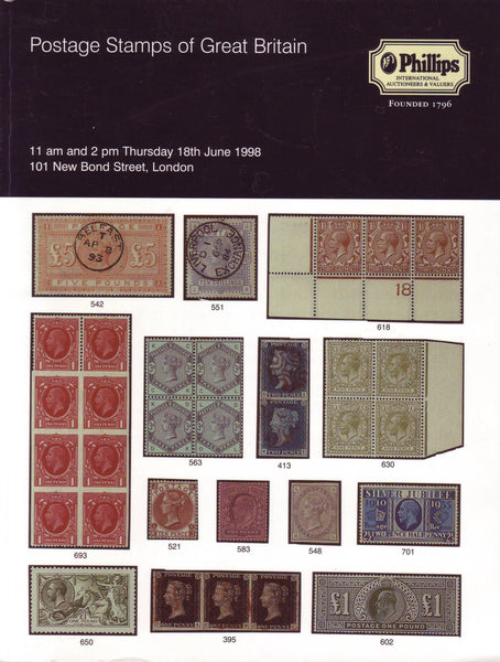 78883 - POSTAGE STAMPS OF GREAT BRITAIN: Phillips Auction ...