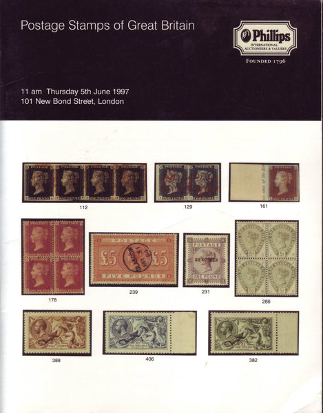 78885 - POSTAGE STAMPS OF GREAT BRITAIN: Phillips Auction ...