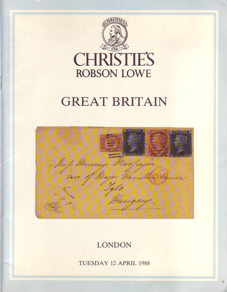 78911 - GREAT BRITAIN: Christie's Robson Lowe auction cata...