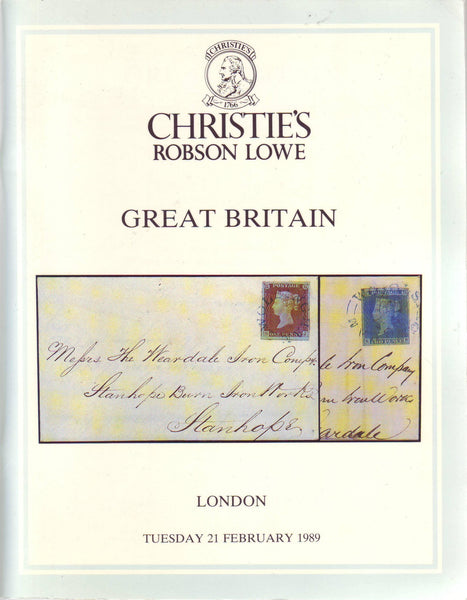 78912 - GREAT BRITAIN: Christie's Robson Lowe auction cata...
