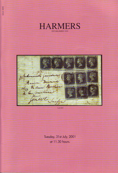 78928 - HARMERS AUCTION CATALOGUE 31 JULY 2001, LONDON. ...