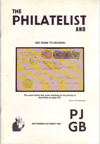 78968 - THE PHILATELIST and PJGB SEPT-OCT 1985. Content incl...