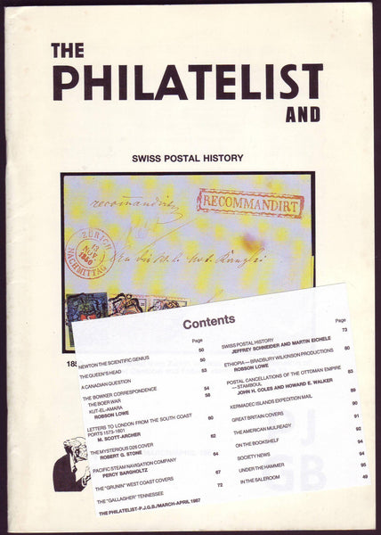 79014 - THE PHILATELIST and PJGB MAR-APR 1987. Contents incl...