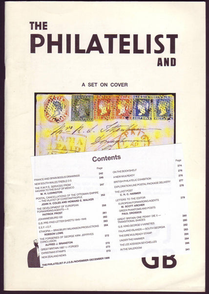 79017 - THE PHILATELIST and PJGB NOV-DEC 1986. Contents incl...