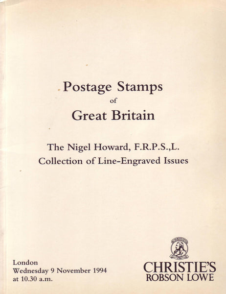 79042 - POSTAGE STAMPS OF GREAT BRITAIN: The Nigel Howard ...