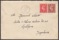 79058 - 1952 MAIL TO YUGOSLAVIA. Envelope West Bromwich to...
