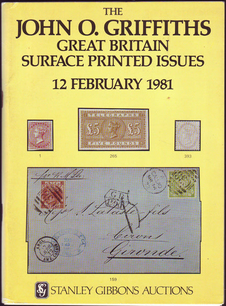 79225 - THE JOHN O. GRIFFITHS GREAT BRITAIN SURFACE PRINTE...