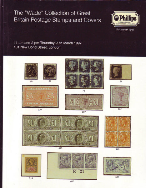 "79230 THE ""WADE"" COLLECTION OF GREAT BRITAIN POSTAGE STAMPS AND COVERS."