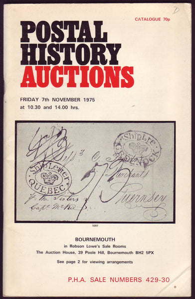 79311 - POSTAL HISTORY AUCTIONS: Robson Lowe auction 7 Nov...