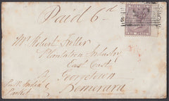 79801 - 1858 MAIL TO DEMERARA/BRITISH GUIANA SCOTS LOCAL. ...