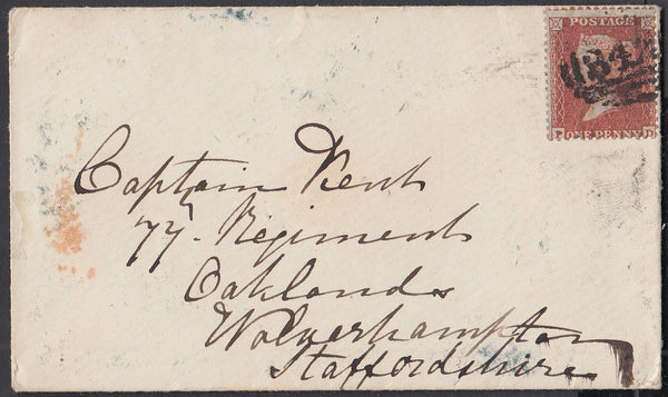 79912 - PL.4 (PD)(SG24) ON COVER. 1855 envelope Hasting...