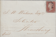 80090 - PL.33 (PF)(SG8) ON COVER. 1843 let...