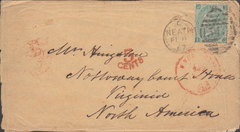 80310 - 1867 MAIL NEATH TO USA. Envelope (some faults) with letter enclosed from N...