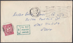 80759 - 1966 UNPAID MAIL SOLIHULL TO ESSEX. 1966 envelope Solihull to East Tilbury Essex, post...