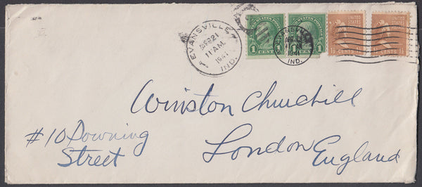 81087 - 1941 MAIL TO WINSTON CHURCHILL. Envelope from US a...