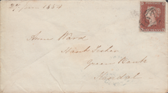 82115 - PL.152 (TK)(SG8) ON COVER. 1854 envelope Bradford Yorks to ...