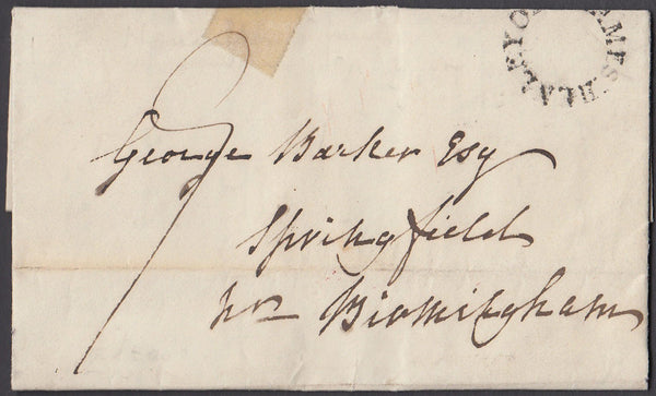 82354 - OXFORDSHIRE. 1836 letter Henley to Birmingham date...