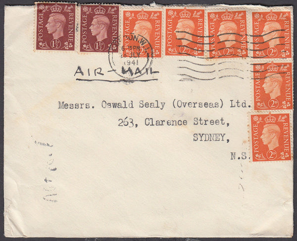 82557 - 1941 MAIL LONDON TO AUSTRALIA. Envelope London to Sydney ...