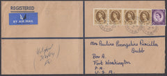 82653 - 1964 envelope (228x102mm) London to USA with Wildi...