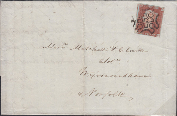 82825 LONDON NO.9 IN MALTESE CROSS ON COVER (SPEC B1ui Cat £550).