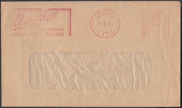 83425 - ADVERTISING. 1951 window envelope from London with...