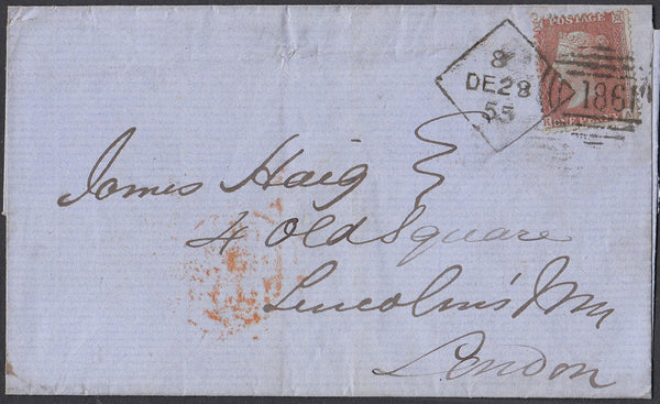 83515 - DUBLIN DIAMOND SPOON  CODE 8 (RA70) ON COVER. 1855 wrapper Dublin