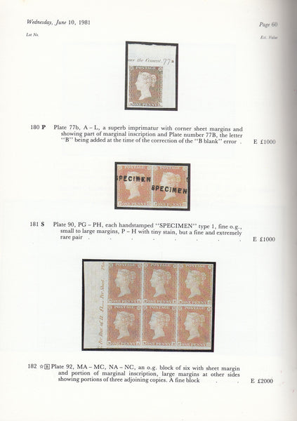 "83568 - 'THE ""GL"" COLLECTION OF CLASSIC GREAT BRITAIN' AUCTION HARMERS OF LONDON."