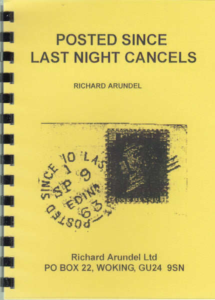 83570 - POSTED SINCE LAST NIGHT CANCELS by Richard Arundel...