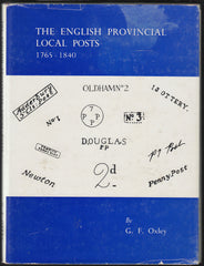 83588 - 'THE ENGLISH PROVINCIAL LOCAL POSTS 1765-1840' by G F...