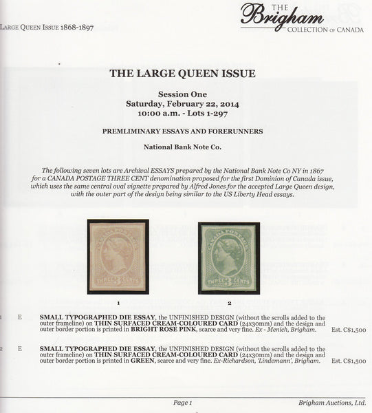 83596 - THE BRIGHAM COLLECTION OF CANADA - LARGE QUEEN ISS...