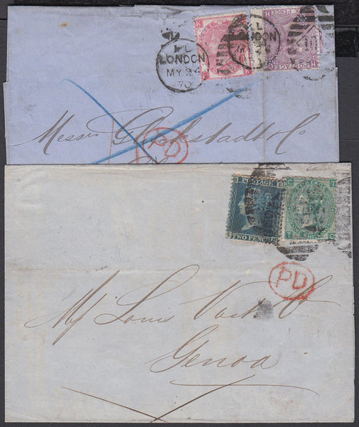 83699 - SAMUEL MONTAGUE UNDERPRINTS ON 2D BLUE (PP128) AND...