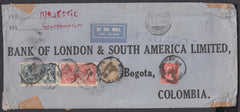 83777 - 1930 MAIL TO COLOMBIA. Envelope (266x112mm) London...