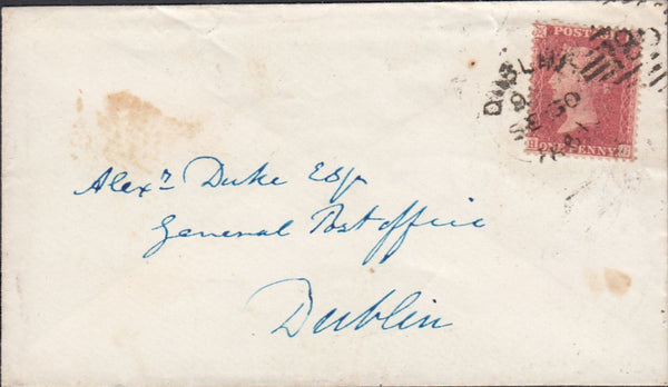 83995 - PL.65 (HG) (SG40) USED ON COVER IN IRELAND. 1861 e...