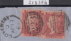 84019 - 1860 DIE 2 PL.64 (ID IE)(SG40). Small piece with two fine die...