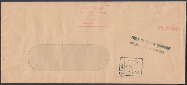 84174 - QEII ENVELOPE SURCHARGED DUE TO VERY LIGHT METER M...