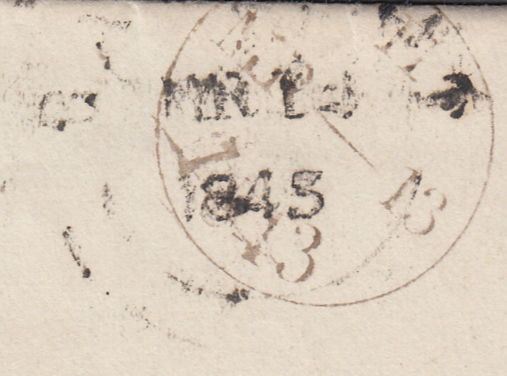 "84387 - PL.26 (CI)(SG8) ON COVER. 1843 wrapper London to ""..."