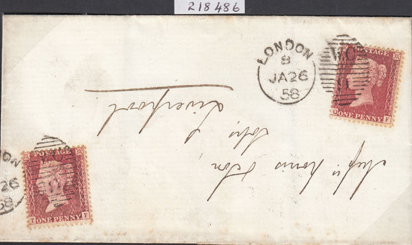 84479 - PL.33 (QF TF)(SG40) USED ON COVER. 1858 envelope L...
