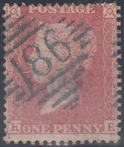 "84605 - PL.46(KE)(SG40)/BLUE ""186"" NUMERAL OF DUBLIN (SPEC..."
