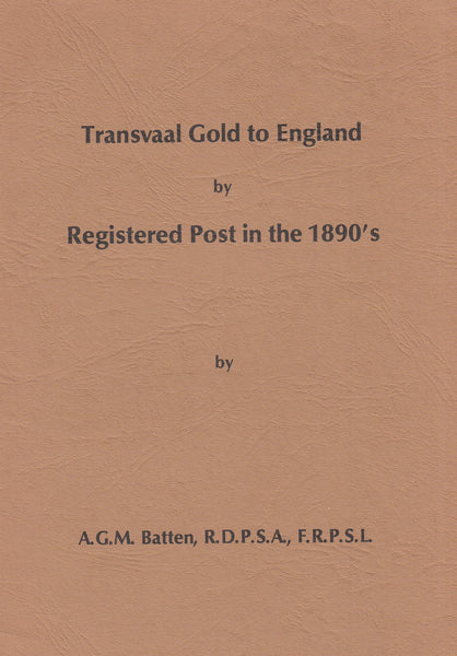 84821 - TRANSVAAL GOLD TO ENGLAND BY REGISTERED POST IN TH...